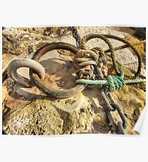 chain and rope Mooring  Poster