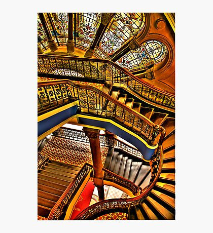 Old Style Workmanship - The Grand Staircase, Queen Victoria Building - The HDR Experience Photographic Print