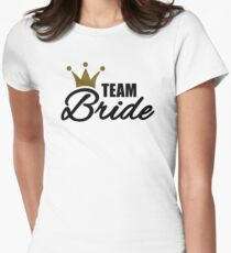 Team bride crown Womens Fitted T-Shirt