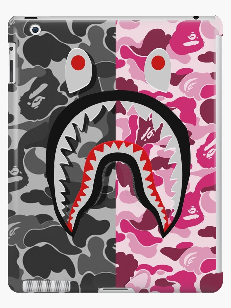cheaper 998df 74f81 'Bape Shark Black and Pink' iPad Case/Skin by RoberEdwards