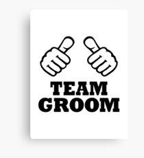 Team groom Canvas Print