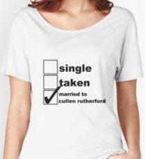 Camiseta ancha para mujer Soltero, Tomado, casado con Cullen