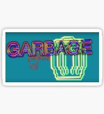 im still a piece of garbage blue Sticker