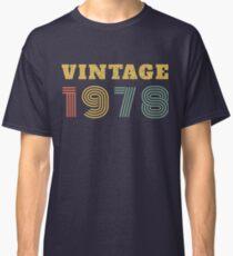 40th Birthday Gift Vintage 1978 Year T-Shirt Classic T-Shirt
