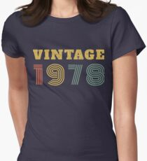40th Birthday Gift Vintage 1978 Year T-Shirt Fitted T-Shirt