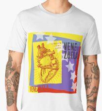 Corazón Vinotinto Men's Premium T-Shirt