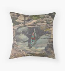 Caveman Throw Pillow