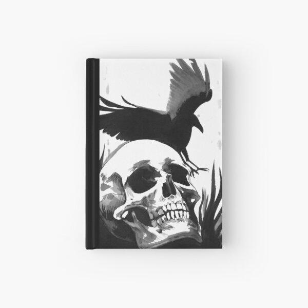 Inkwash Skull and Crow Hardcover Journal
