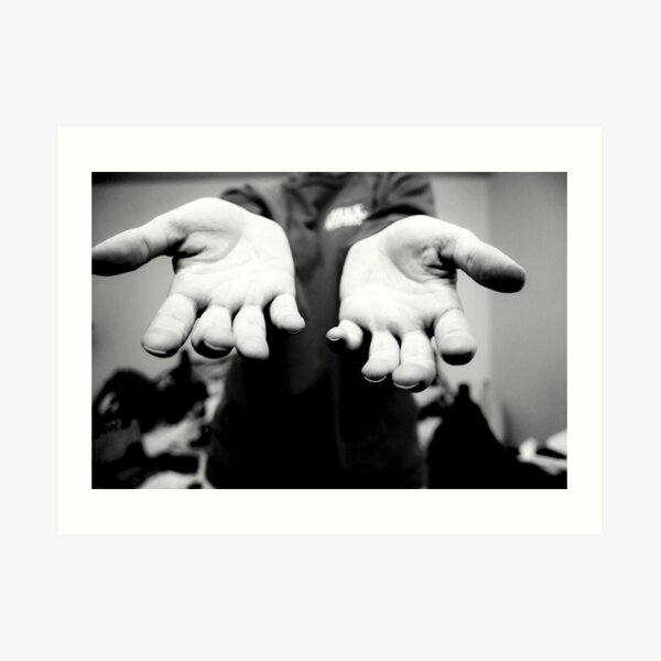 The Hands That File Art Print