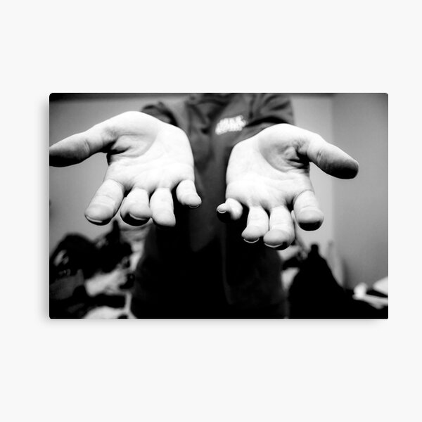 The Hands That File Canvas Print
