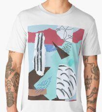 pastels paper collage Men's Premium T-Shirt
