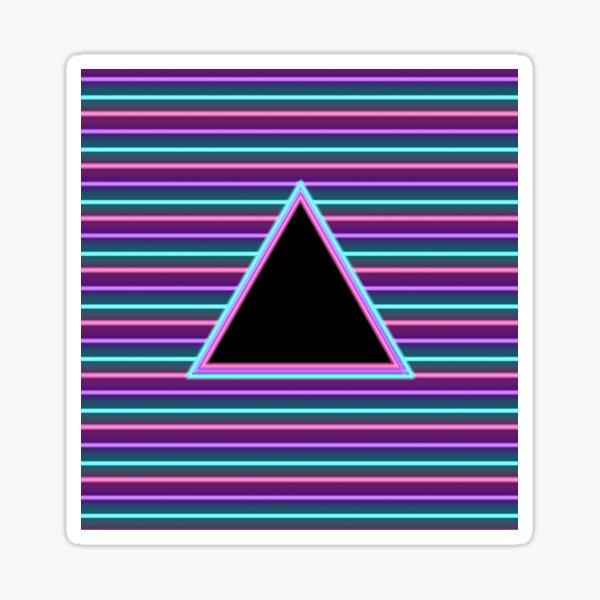 Neon triangle Sticker