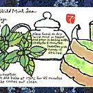Mugwort Cake and Wild Mint Tea by dosankodebbie