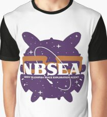 NBSEA - Nerdy Blowfish Space Exploration Agency Graphic T-Shirt