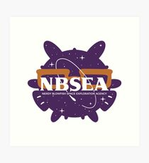 NBSEA - Nerdy Blowfish Space Exploration Agency Art Print