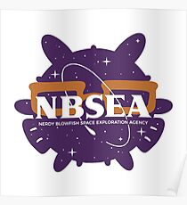 NBSEA - Nerdy Blowfish Space Exploration Agency Poster