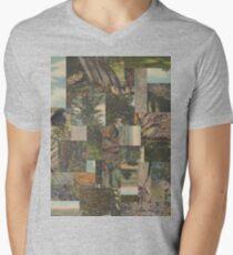 Tree Points Drop Men's V-Neck T-Shirt