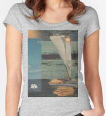 Sun Set Sail Women's Fitted Scoop T-Shirt