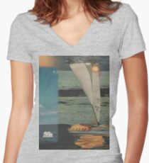Sun Set Sail Women's Fitted V-Neck T-Shirt