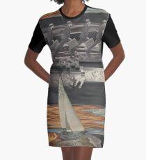 Grunt Spill Graphic T-Shirt Dress