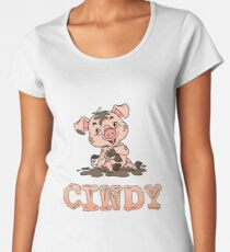 Cindy Piggy Women's Premium T-Shirt