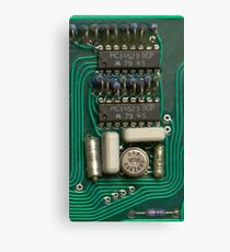 Circuit - recycling old electronics Canvas Print