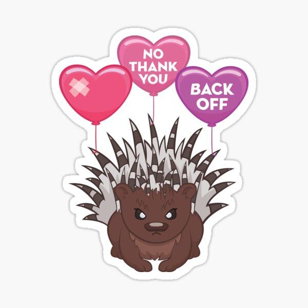 Grumpy Porcupine Sticker