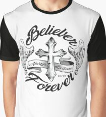 Belieber Forever Always Believe Scripty Graphic T-Shirt