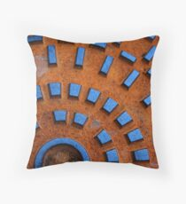 rusty sewer Throw Pillow
