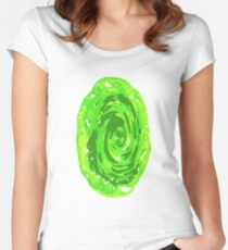 Simple Rick And Morty Portal  Women's Fitted Scoop T-Shirt