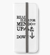 Funny Elevator Shirt & Other Gear Men Do it Up and Down iPhone Wallet/Case/Skin