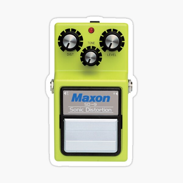 Maxon SD9 Sonic Distortion Sticker