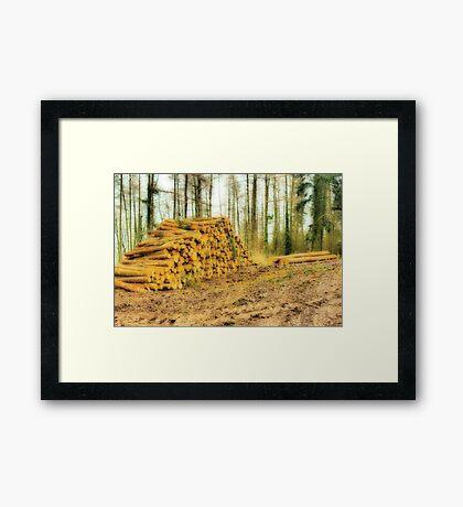 Logged Off Framed Print