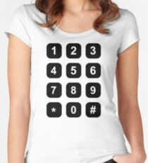 Telephone dial numbers Women's Fitted Scoop T-Shirt