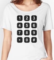 Telephone dial numbers Women's Relaxed Fit T-Shirt