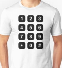 Telephone dial numbers Unisex T-Shirt