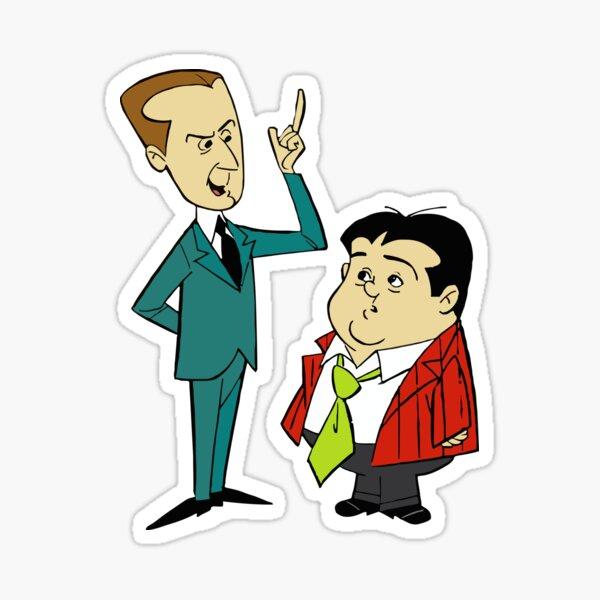Abbott and Costello Sticker