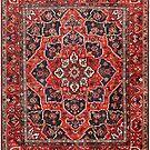 Tufted carpet / loop pile / Bakhtiari Rug   Antique Persian Bakhtiari Carpet wool  by znamenski