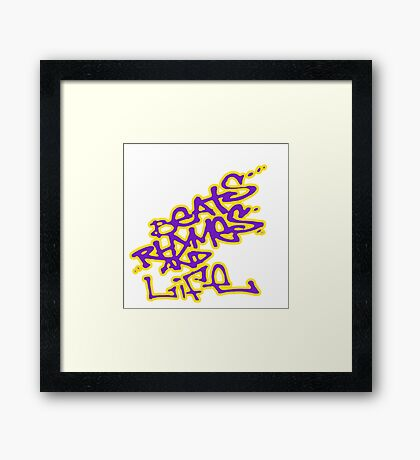 A Tribe Called Quest : Beats Rhymes and Life replica promo  Framed Print