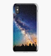 Galaxy with tree fronting  iPhone Case