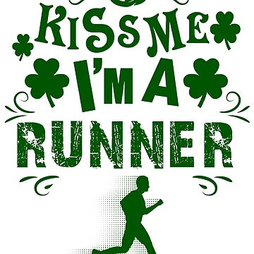 Saint Patricks Day Running Women Kiss Me by albertoro2