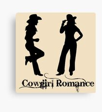 Cowgirl Romance  Canvas Print