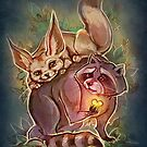 Racoon & Fennec by AntheaWright