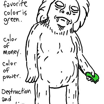Yeti's favorite color is green by jaymoysey