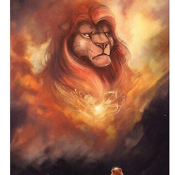 king lion  by ibrahimGhd