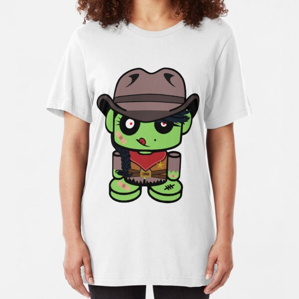 Cowgirl ZOMBIO'BOT Toy Robot Slim Fit T-Shirt