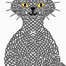 « Chat en entrelacs - gris et noir » par Hippopottermiss