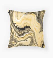 Painted Gold Throw Pillow