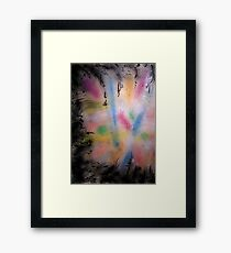 universe mapping Framed Print