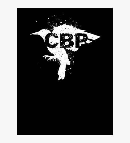 Cripple Black Phoenix Logo (White) Photographic Print